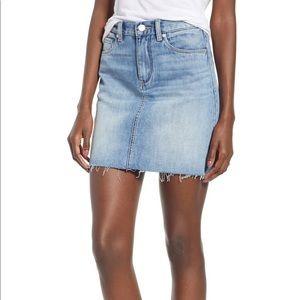 Blank NYC Raw Denim Jean Skirt
